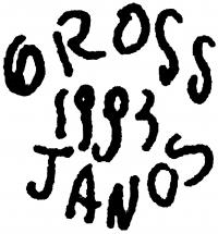 Orosz János aláírása