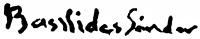 Basilides Sándor aláírása