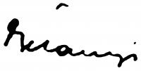 Belányi Viktor aláírása