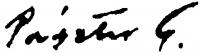 Pásztor Gábor aláírása