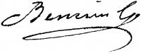Benczúr Gyula aláírása