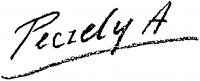 Péczely Antal aláírása