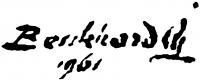 Benkhard Ágost aláírása