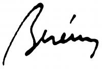 Berény Róbert aláírása