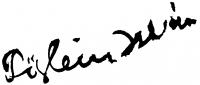 Biai-Föglein István aláírása