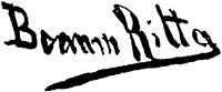 Boemm Ritta aláírása