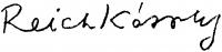 Reich Károly aláírása