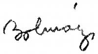 Bolmányi Ferenc aláírása