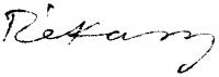 Rékassy Csaba aláírása