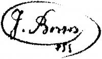 Borsos József aláírása