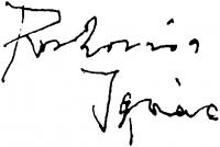 Roskovics Ignác aláírása