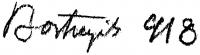 Bortnyik Sándor aláírása