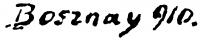 Bosznay István aláírása
