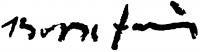 Bozsó János aláírása