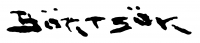 Börtsök Samu aláírása