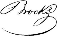 Brocky Károly aláírása
