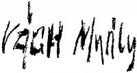 Vágh-Weinmann Mihály aláírása