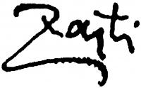 Zajti Ferenc aláírása