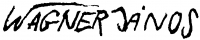 Wagner János aláírása