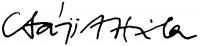 Csáji Attila aláírása