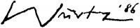 Würtz Ádám aláírása