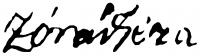 Zórád Géza aláírása