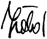 Zöld Anikó aláírása