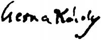 Cserna Károly aláírása