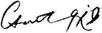 Csont Ferenc aláírása