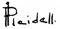 Pleidell János aláírása
