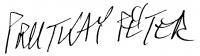 Prutkay Péter aláírása
