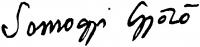 Somogyi Győző aláírása