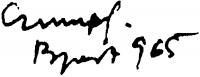 Czumpf Imre aláírása