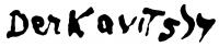 Derkovits Gyula aláírása