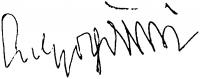 Sulyok Gabriella aláírása