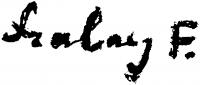 Szalay Ferenc aláírása