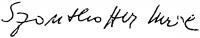 Szanthoffer Imre aláírása