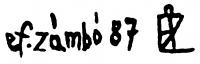 Ef Zámbó, István Signature