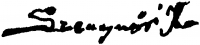 Szegvári Károly aláírása