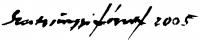 Szentgyörgyi József aláírása