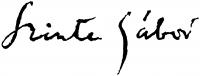 Szinte Gábor aláírása