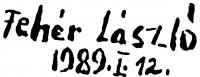 Fehér László aláírása