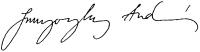 Szunyoghy András aláírása