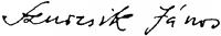 Szurcsik János aláírása
