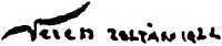 Veress Zoltán aláírása