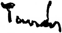 Tamás Ervin aláírása