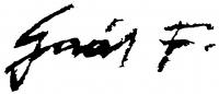 Gaál Ferenc aláírása