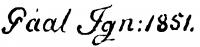 Gaál Ignác aláírása