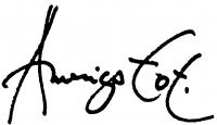 Tot, Amerigo aláírása