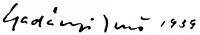 Gadányi Jenő aláírása